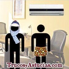 Anginas y aire acondicionado en la oficina
