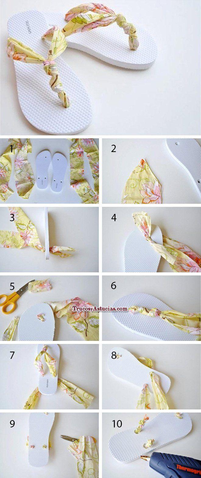 Arreglar sandalias y chanclas de dedo rotas