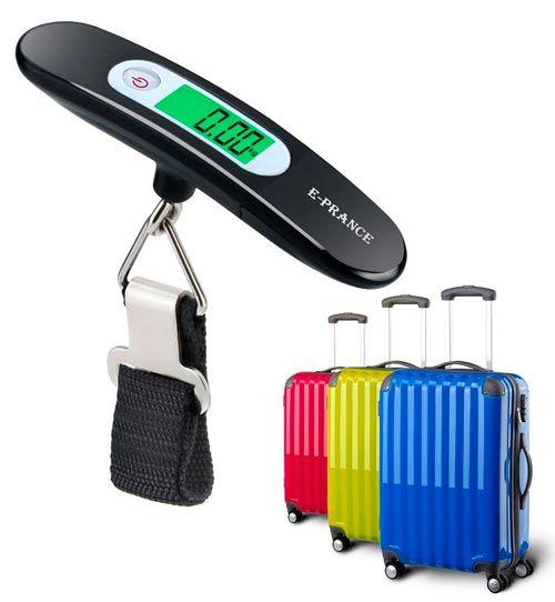 balanza para pesar maletas y objetos pequeños