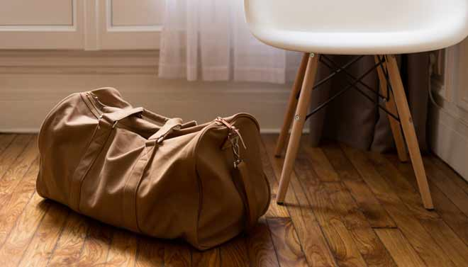 equipaje adecuado para viajar - bolsa de viaje ligera