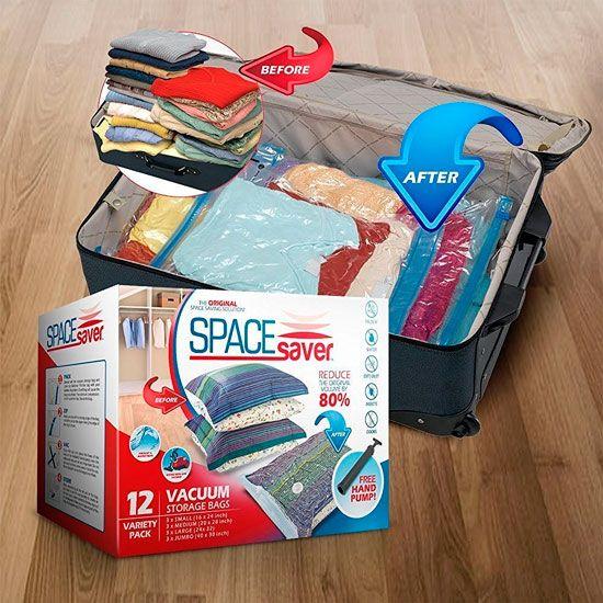 utilizar bolsas herméticas para que quepa todo en la maleta