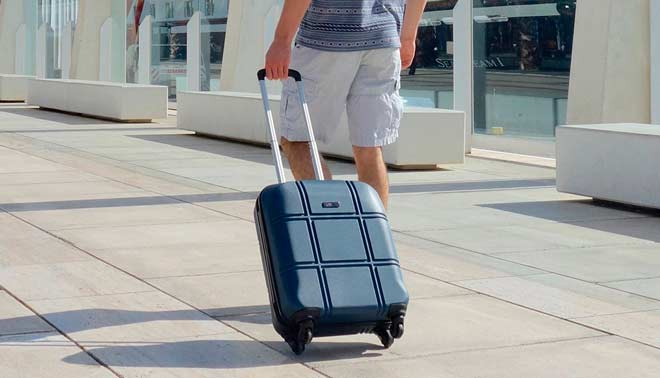 maleta trolley con ruedas rígida