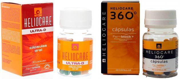 capsulas para ponerse moreno de la marca heliocare