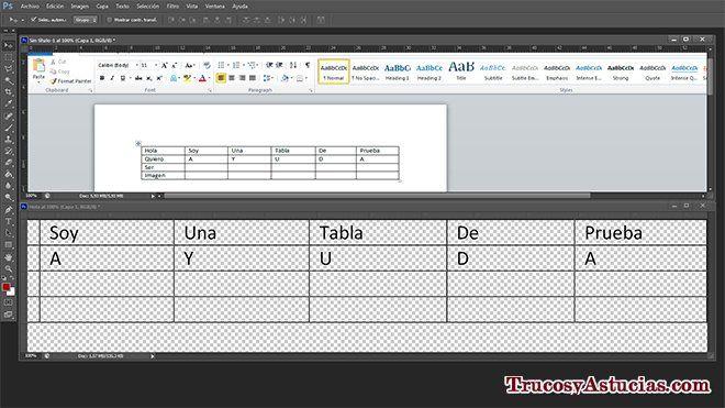 convertir una tabla hecha en word a imagen
