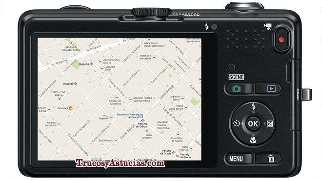 Viajar con mapa en la cámara