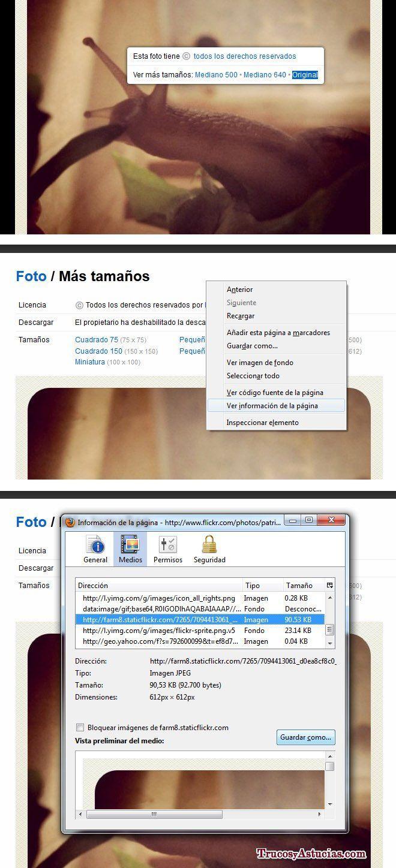 Cómo descargar fotos de flickr protegidas usando Firefox.
