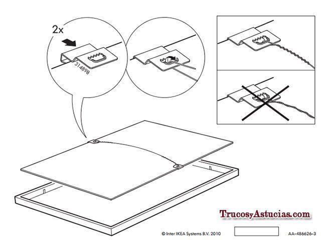 Instrucciones de Ikea para montar el marco RIBBA