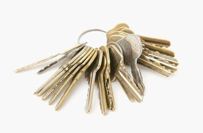 Manojo de llaves iguales