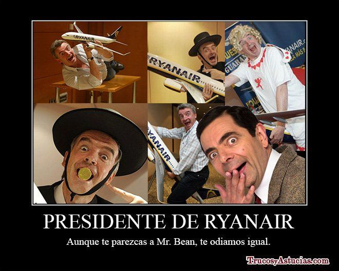 Michael O'leary, el presidente de Ryanair, se parece a Mr Bean.