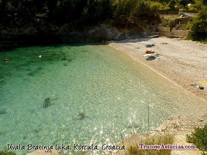 Playa Bratinja en Korcula