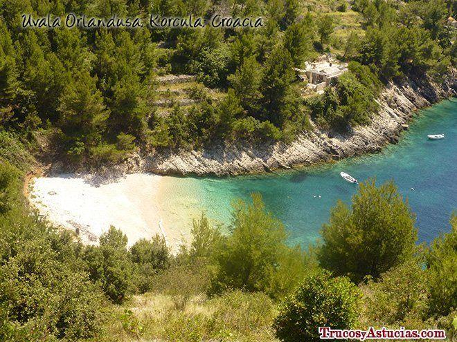 Playa Orlandusa en Korcula