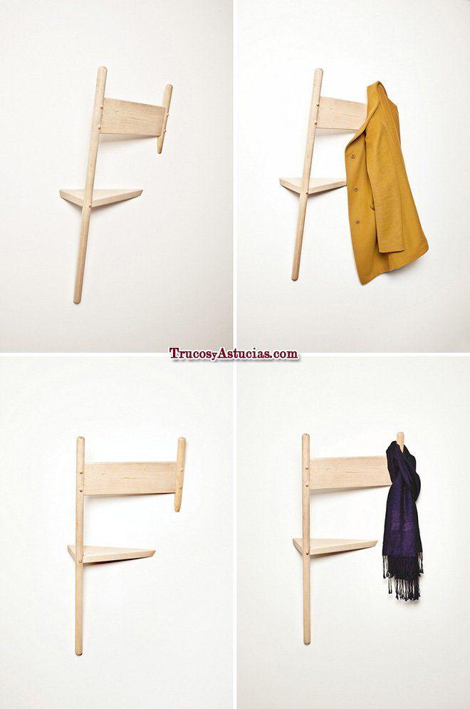 Reciclar sillas: colgador
