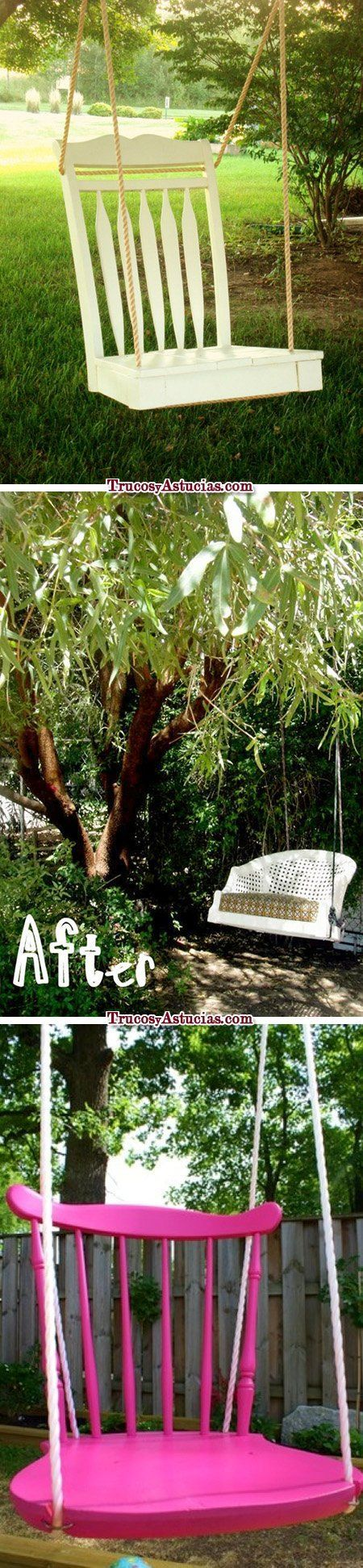 Reciclar sillas: columpio