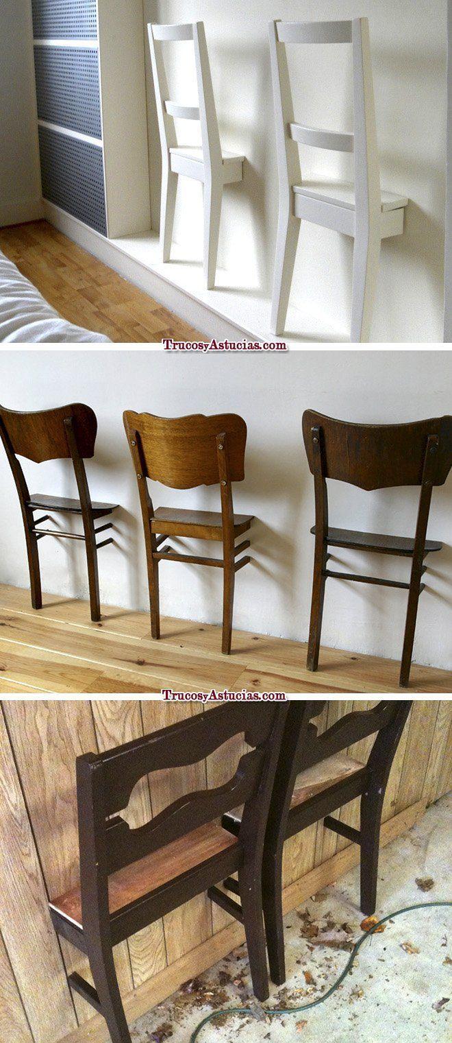 reciclar sillas: galanes para ropa