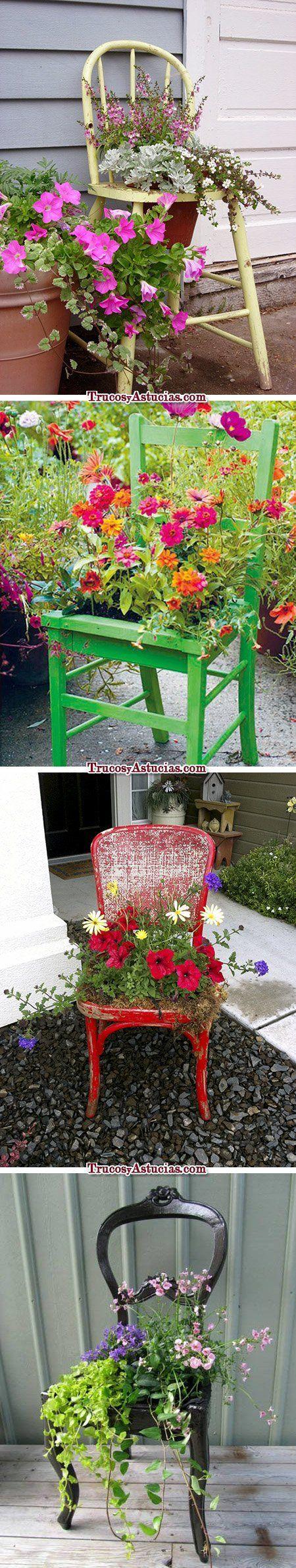 Reciclar sillas 10 objetos y 30 ideas distintas trucos for Ideas para el jardin reciclando