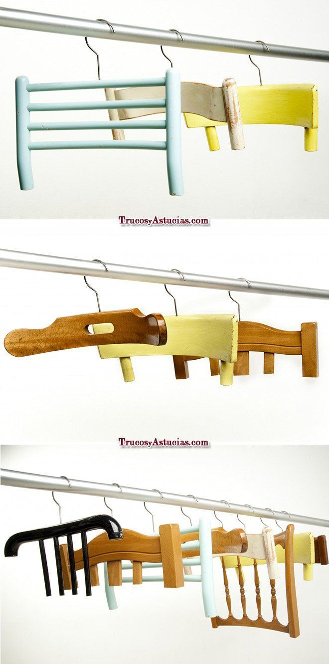 reciclar sillas: perchas