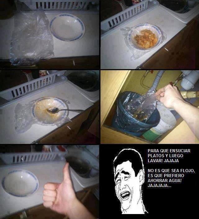 truco para no lavar los platos