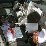 Papelera y organizador de coche caseros