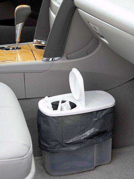 papelera casera para coche