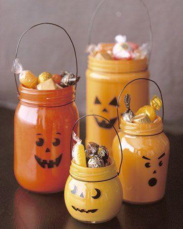 Decoración para Halloween casera: cesto para golosinas casero