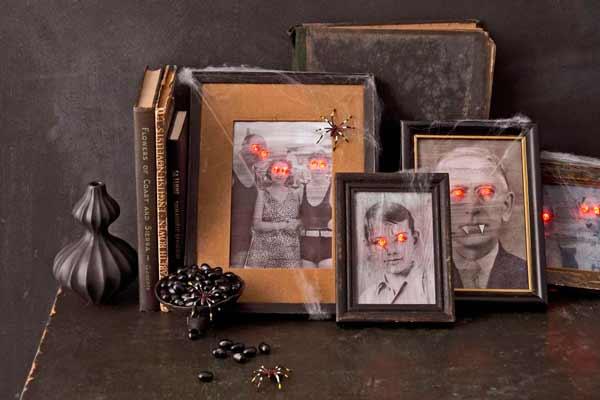 manualidad original para halloween: fotos de familia que dan miedo