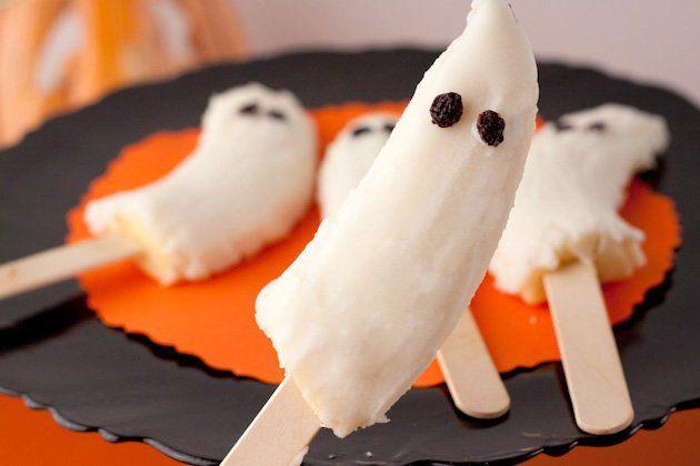 Decoración para Halloween casera: platano fantasma