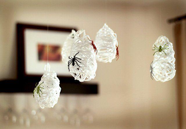 Decoración para Halloween casera telas de araña caseras