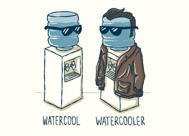 Fuente de agua de la oficina