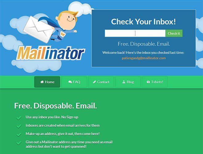 email desechable con mailinator