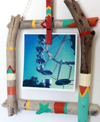 marco casero con palos DIY