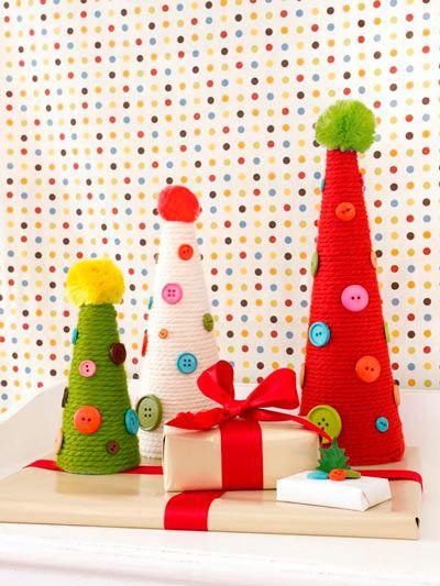 arbol de navidad casero y original con manualidades y lanas