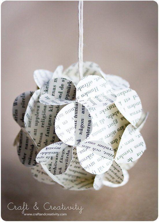 Bola de Navidad de papel