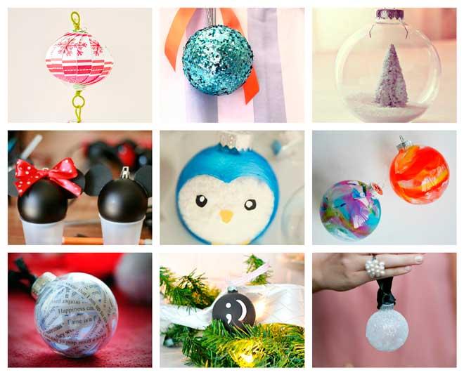 originales bolas para el árbol de navidad