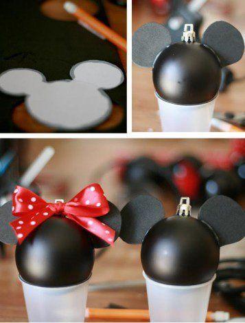 bolas de navidad de Mickey y Minnie