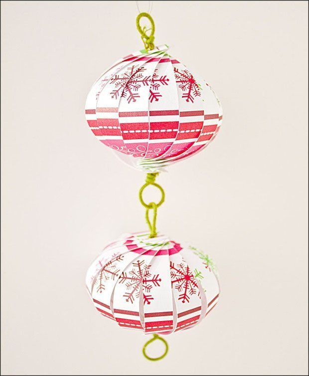 Bola de Navidad hecha con papel