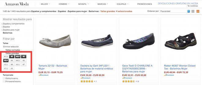 zapatos de tallas grandes para mujer en amazon.es
