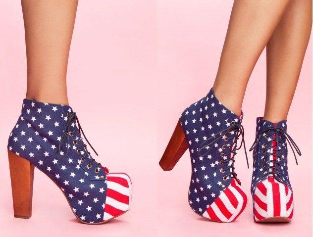 zapatos con bandera de estados unidos