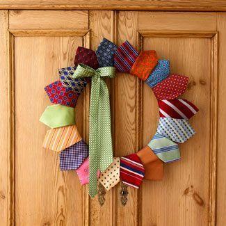 manualidad del día del padre con corbatas