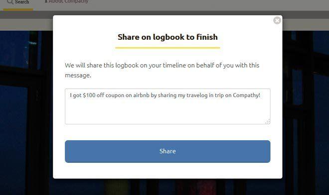 Paso 6 para conseguir un cupón de airbnb de 100$ con compathy