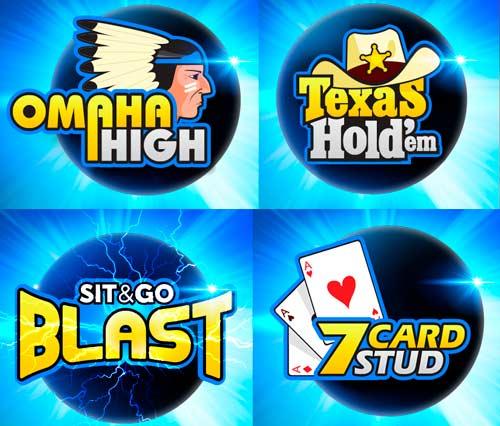 diferentes tipos de juegos de poker online