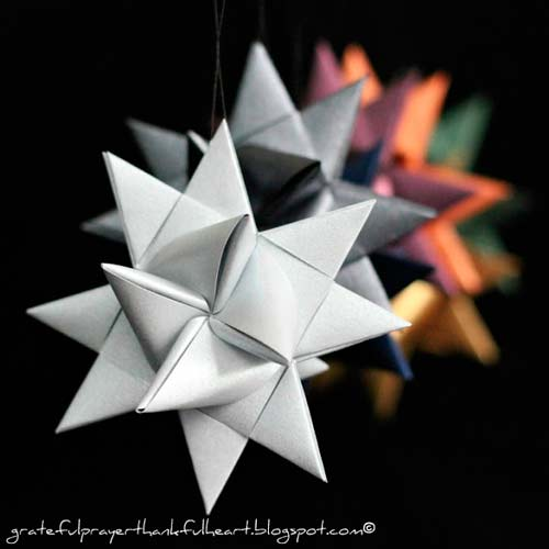 estrella de navidad 3d con origai
