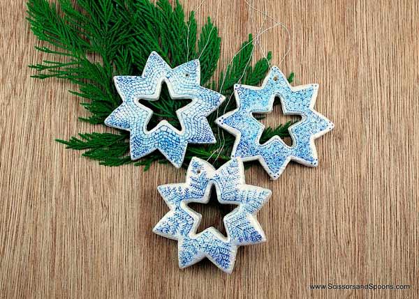 estrellas para decorar hechas con pasta de sal