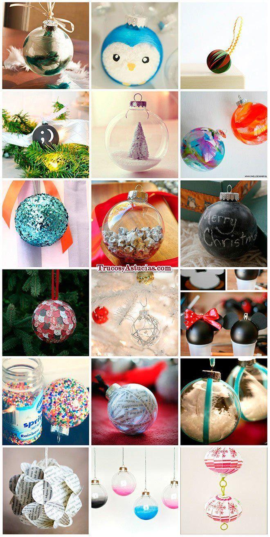 bolas de navidad con manualidades