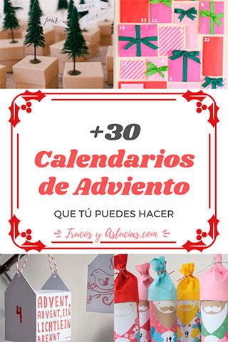 calendarios de adviento caseros para hacer con niños en navidad
