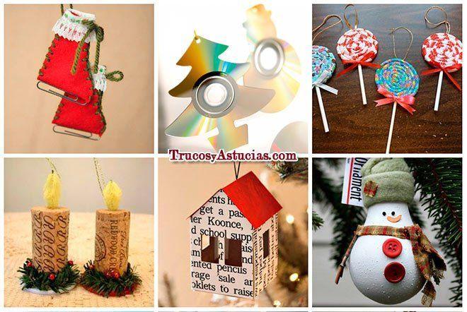 manualidades adornos de Navidad para el árbol