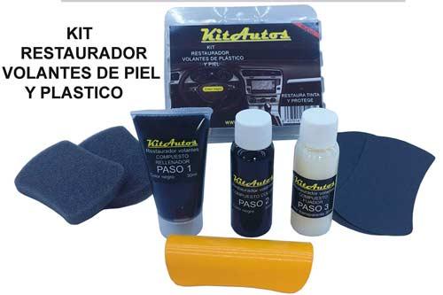 kit para restaurar y reparar volantes de cuero o plástico sintético, tinte de color negro