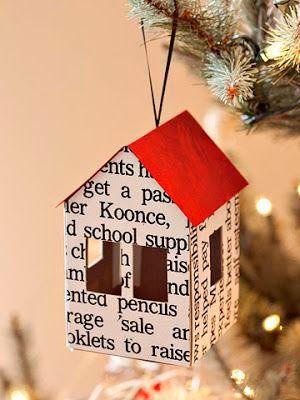 adornos para el árbol de Navidad, casa de papel