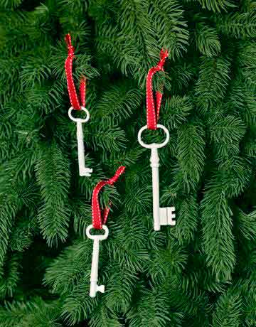 llaves para decorar un árbolito de navidad