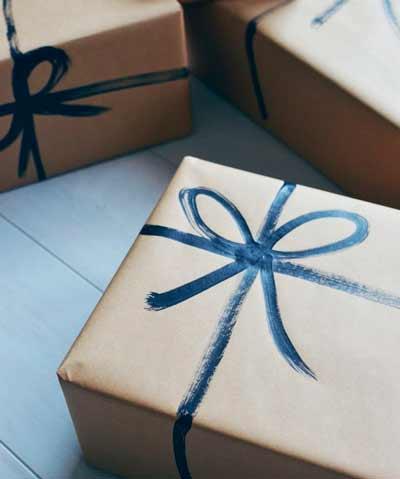papel de regalo para navidad diy muy fácil pintando lazos