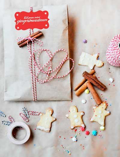 envolver regalos de navidad  con canela en rama